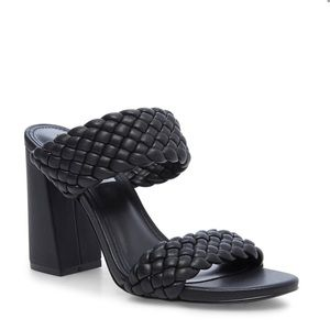 Tangle Quilted Mule in Black